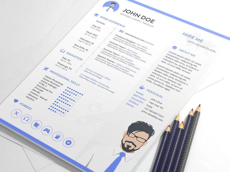 CV theo hình thức file PDF
