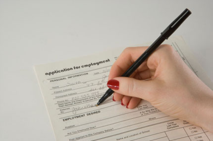 mẫu đơn xin việc làm
