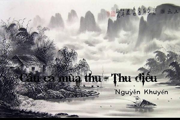  Thu điếu của Nguyễn Khuyến