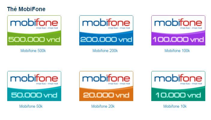 blogdoctin.net -  Thẻ cào Mobi có những mệnh giá gì