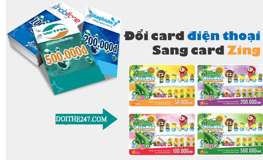 Chi tiết cách đổi card điện thoại lấy card zing mà bạn nên biết