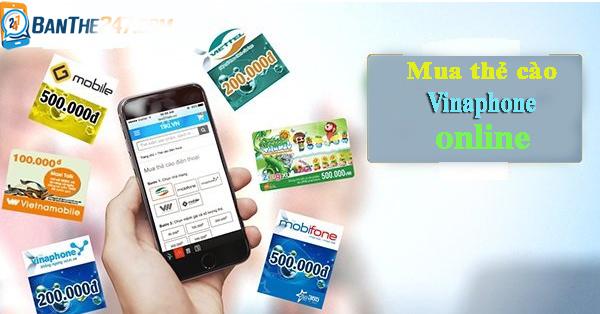 Mua thẻ cào Vinaphone trực tuyến siêu nhanh tại doithe247.com