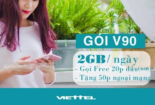 Bật mí thông tin về gói cước ưu đãi V90 của Viettel