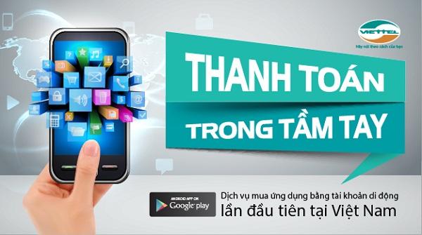 Chi tiết cách thanh toán Google Play bằng sim Vinaphone