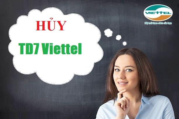 vnnew24h.com - Cụ thể cách hủy nhanh gói TD7 của Viettel đơn giản nhất