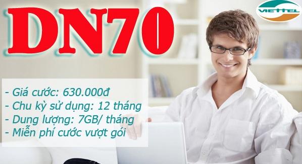 contentviet.com - Tìm hiểu thêm các thông tin ưu đãi từ gói cước DN70 của Viettel
