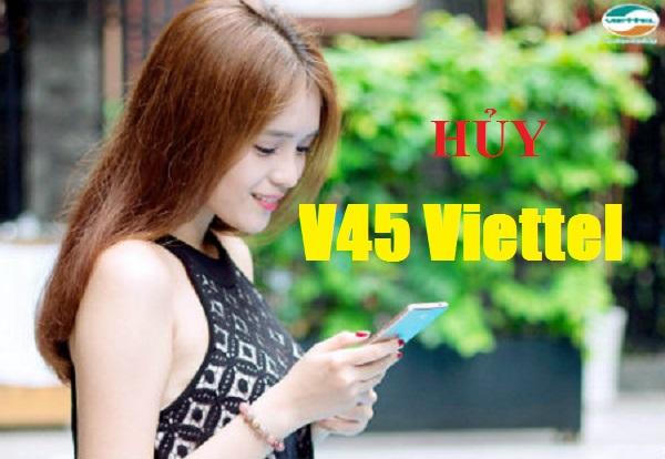 booksviet.com - Hướng dẫn khách hàng hủy gói cước V45 của Viettel nhanh chóng