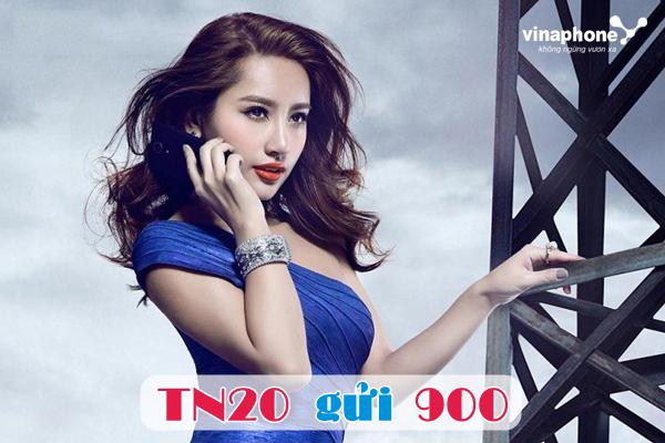 Đăng kí gói dịch vụ TN20 Vina thoải mái gọi thoại.