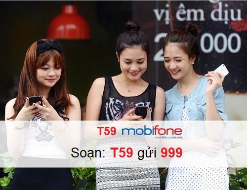Hướng dẫn nhanh chóng đăng kí dịch vụ T59 Mobifone để nhận nhanh chóng ưu đãi lớn