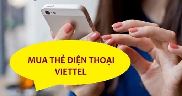 Cách mua thẻ điện thoại Viettel online 100k chiết khấu cao