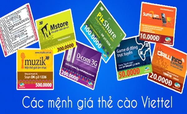 Mệnh giá thẻ cào Viettel và lưu ý khi mua thẻ cào giấy