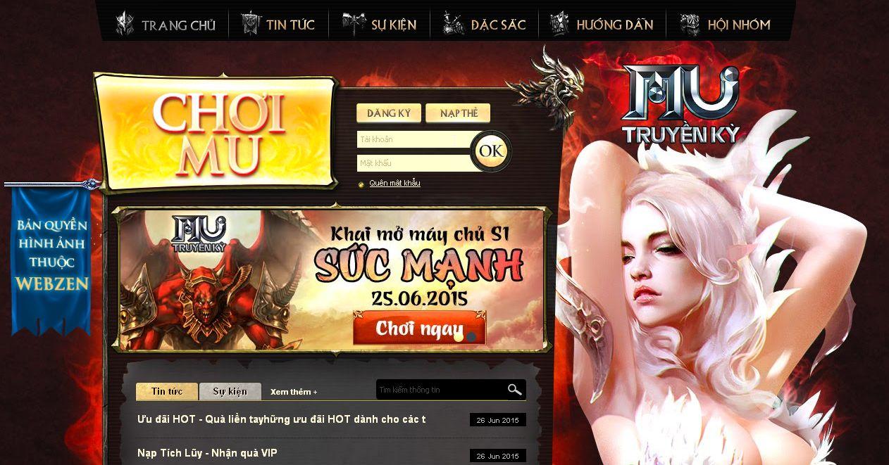 trangtin247.com - Bật mí cách mua thẻ gate online nạp vào game MU Truyền Kì