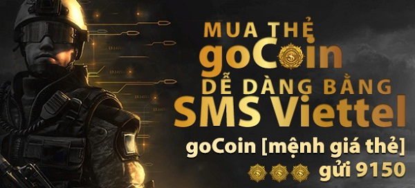 VietnamHQ.com - Cách nhanh chóng nhất để mua thẻ Gocoin băng sms Viettel