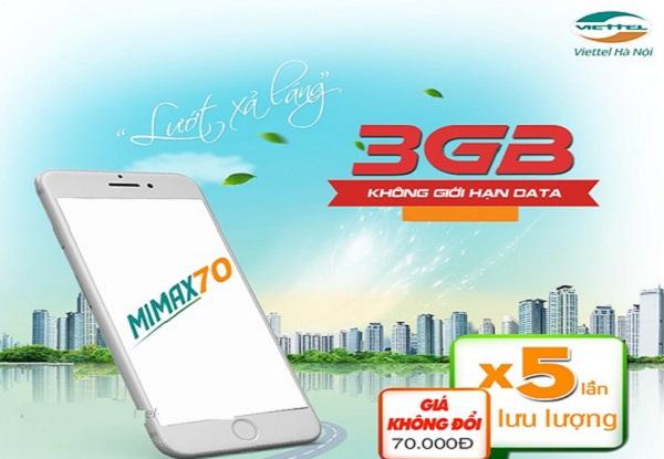 Đăng ký gói Mimax, Đăng ký gói Mimax90 Viettel data gấp 5 lần, giá không đổi