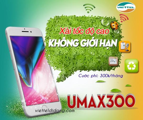 UMAX300 Viettel với ưu đãi data tốc độ cao