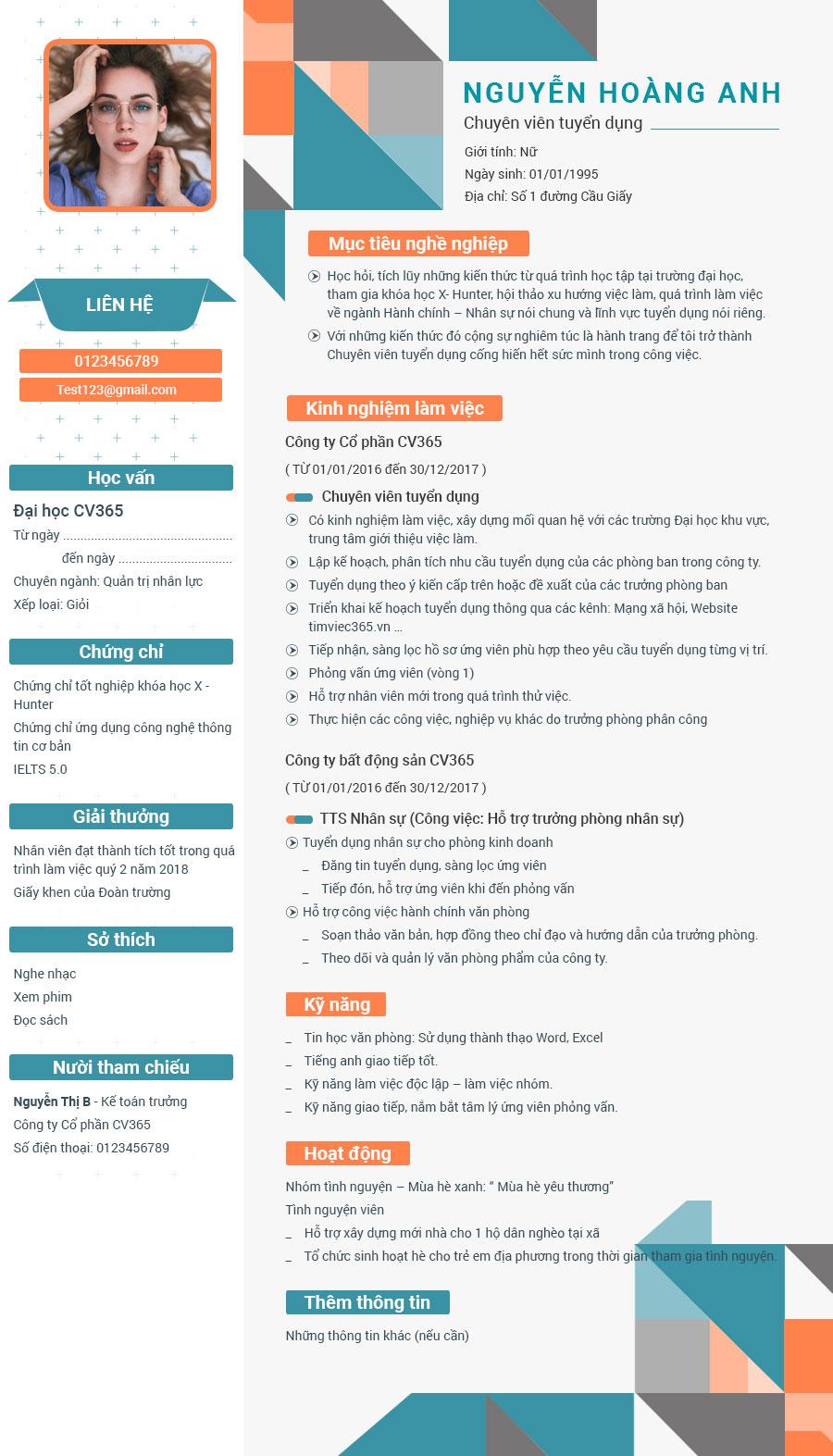 Hướng dẫn bạn cách viết CV online tiếng Anh