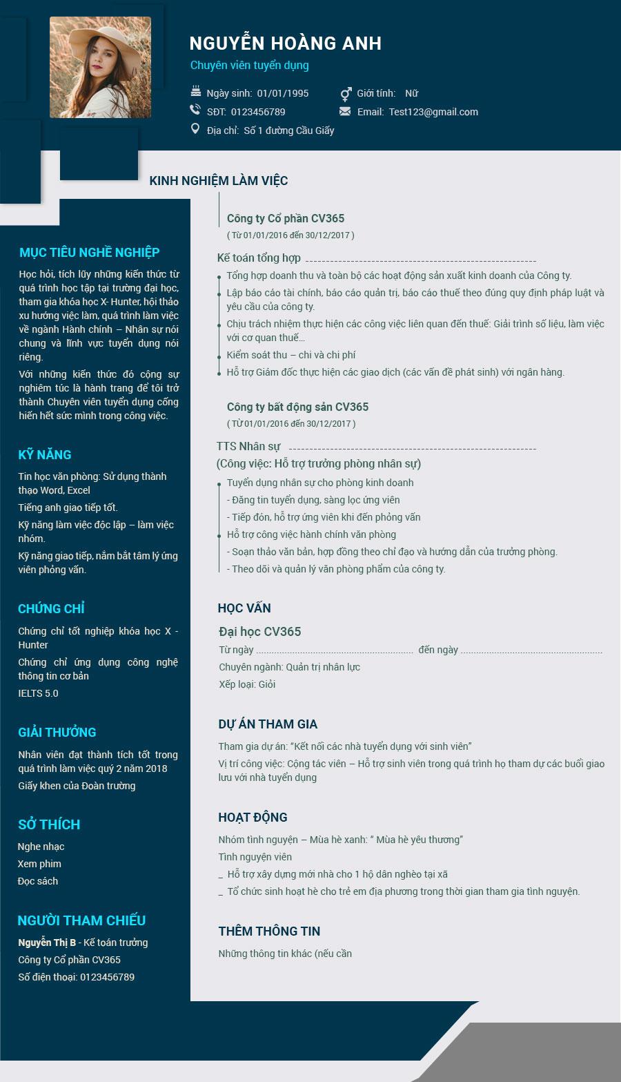 Mẫu CV xin việc IT tiếng Việt giúp bạn đánh gục mọi nhà tuyển dụng